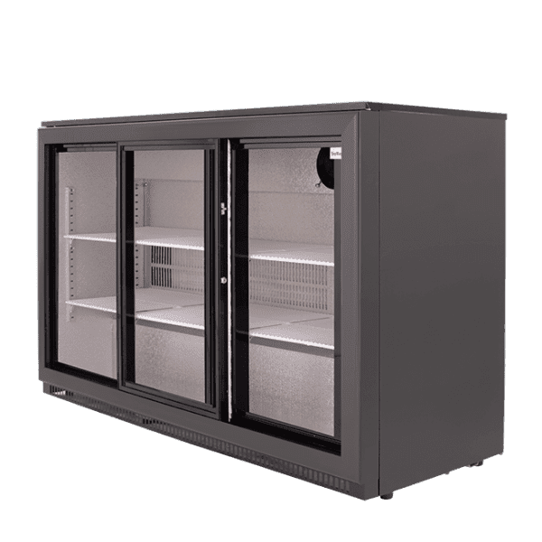 SnoMaster 300L Triple Door Undercounter Beverage Cooler Sliding (DBQ300LS3) Right View