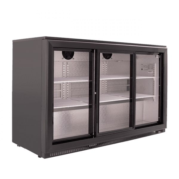 SnoMaster 300L Triple Door Undercounter Beverage Cooler Sliding (DBQ300LS3) Side View