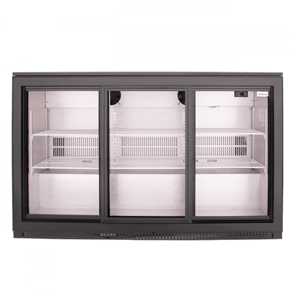 SnoMaster 300L Triple Door Undercounter Beverage Cooler Sliding (DBQ300LS3) Front View