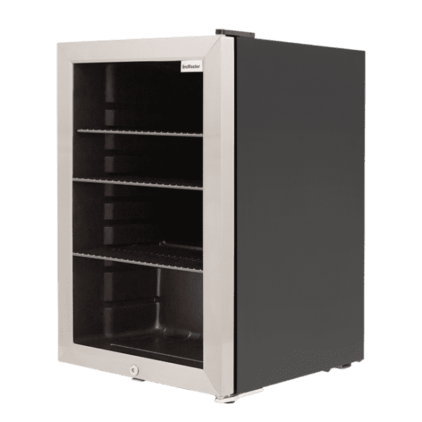 SnoMaster 70L Glass Door Beverage Cooler with Digital Thermostat Right View (SC-70N)