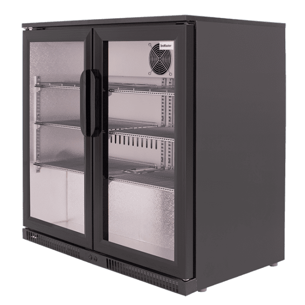 SnoMaster 200L Double Door Undercounter Beverage Cooler (SD-220) with Lock Side View