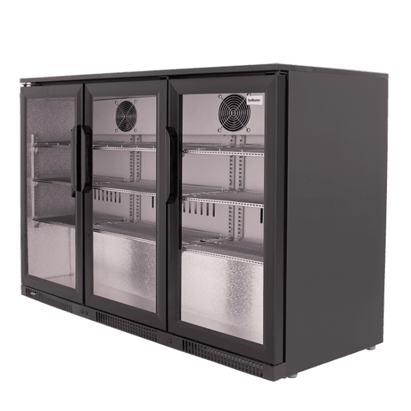 SnoMaster 300L Triple Door Under Counter Beverage Cooler (SD-300) with Lock Right View