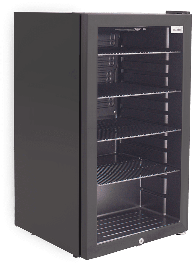 SnoMaster 98L Under Counter Wine and Beverage Cooler (SM-100) with Lock Left View