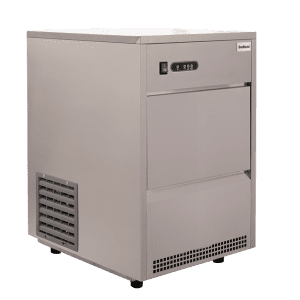 SnoMaster 26kg Plumbed-In Commercial Ice Maker (SM-26) 16 Bullet Ice / Cycle Angled View Left