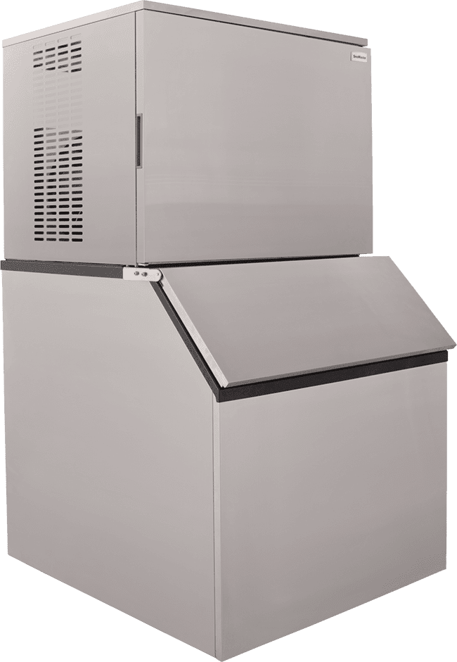 SnoMaster 450kg Plumbed-In Commercial Ice Maker for bars and restaurants (SM450) Angled View Left