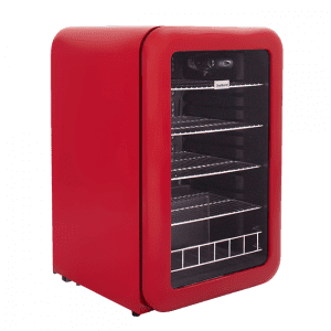 Red retro Under-counter beverage cooler