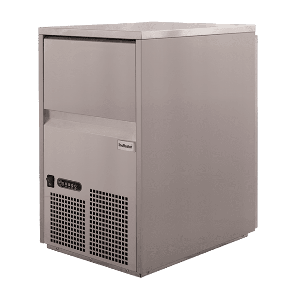 SnoMaster 26kg Plumbed-In Commercial Ice Maker for Bars and Restaurants (SM-26S) Angled View Right