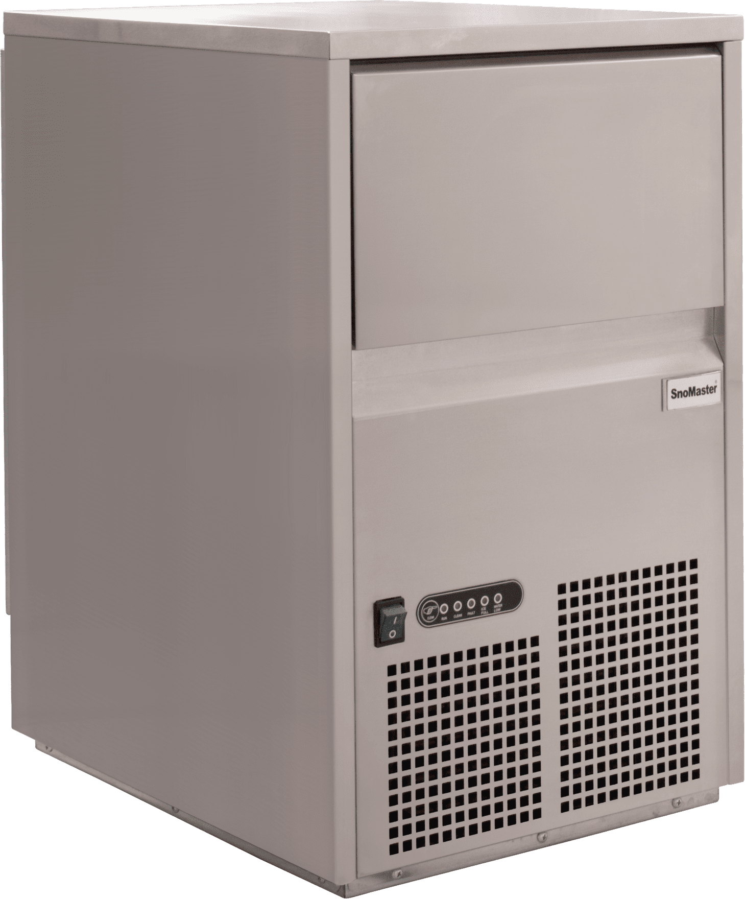 SnoMaster 26kg Plumbed-In Commercial Ice Maker for Bars and Restaurants (SM-26S) Angled View Left