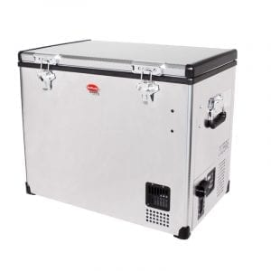 SnoMaster 80L Compressor Cooled Single Compartment Stainless Steel Portable Camping Fridge/Freezer AC/DC (SMDZ-CL80) Left Side