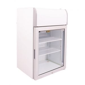 SnoMaster 70L Countertop Freezer with Glass Door and Lightbox (SMCTB-100FF) Left View