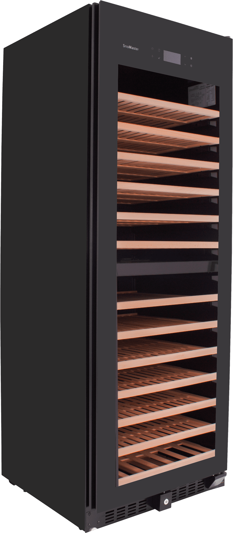 SnoMaster 181 Bottle Upright Dual Zone Wine Cooler (VT181PRO) with Auto Defrost Right View Close Up