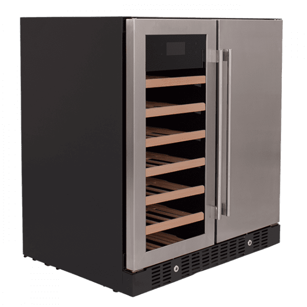 SnoMaster 176L Double Door Beverage/Wine Cooler with Digital Thermostat VT-19PRO Right View