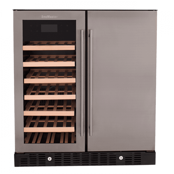 SnoMaster 176L Double Door Beverage/Wine Cooler with Digital Thermostat VT-19PRO Front View