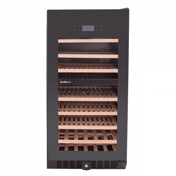 SnoMaster 94 Bottle Dual Zone Wine Cooler with Tinted Tempered Glass Door (VT-94PRO) Front View