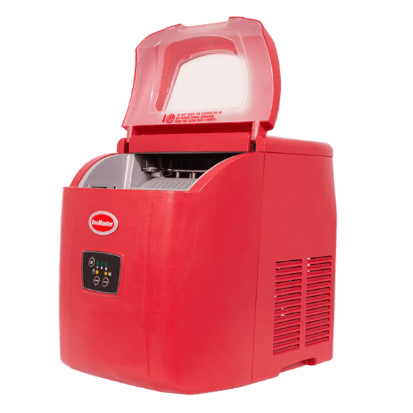 SnoMaster 12kg Mini Ice Maker with 10 Bullet Ice Cubes Per Cycle Capacity Red