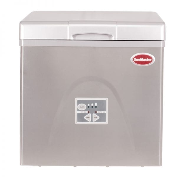 SnoMaster 20kg Stainless Steel Tabletop Bullet Ice Maker with Removable Ice Bucket and 12 Cubes per Cycle Capacity (ZBC-20) Front Closed