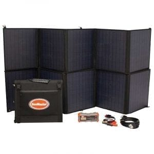 SnoMaster 200W Weatherproof Foldable Monocrystalline Solar Panel Kit with Smart Regulator