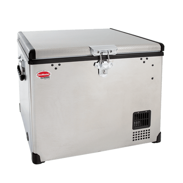 SnoMaster 40L Portable Stainless Steel Single Compartment AC/DC Camping Fridge / Freezer (SMDZ-CL40) Closed Lid