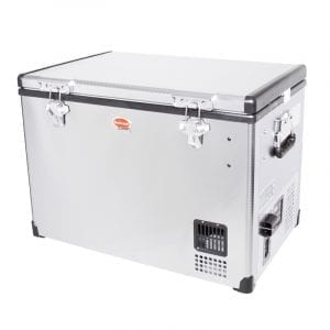 SnoMaster 60L Compressor Cooled Single Compartment Portable Stainless Steel Camping Fridge/Freezer AC/DC (SMDZ-CL60) Left Side