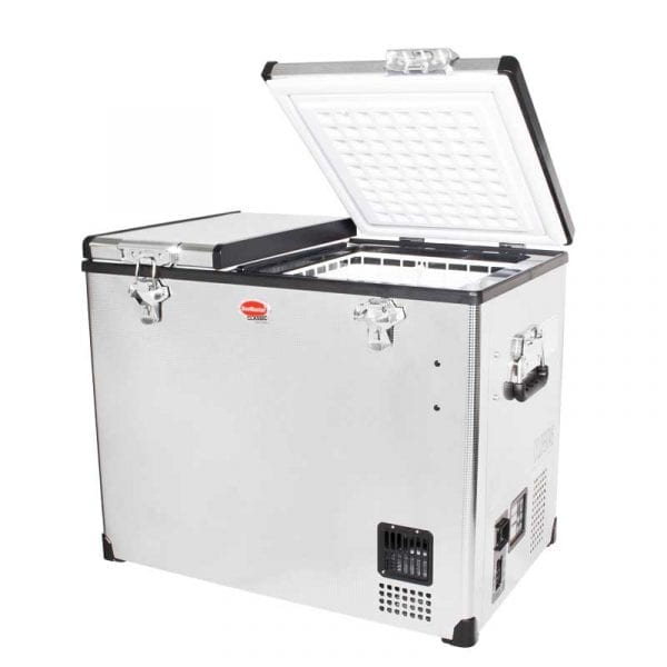 SnoMaster 72L Dual Compartment Stainless Steel Camping Fridge/Freezer (SMDZ-CL72D)