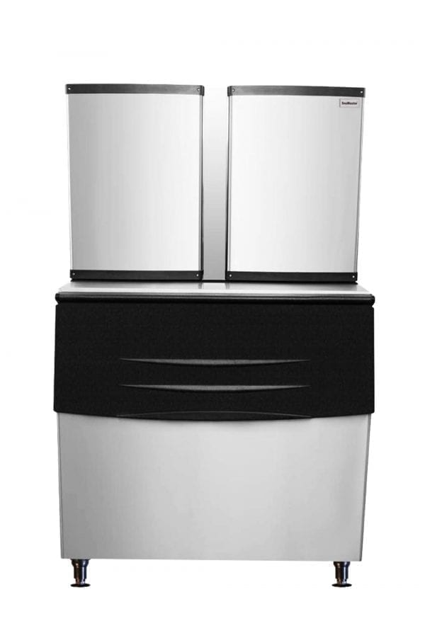 SnoMaster 700kg Plumbed-In Stainless Steel Commercial Square Ice Maker (SM-500) with Ice Full Sensor