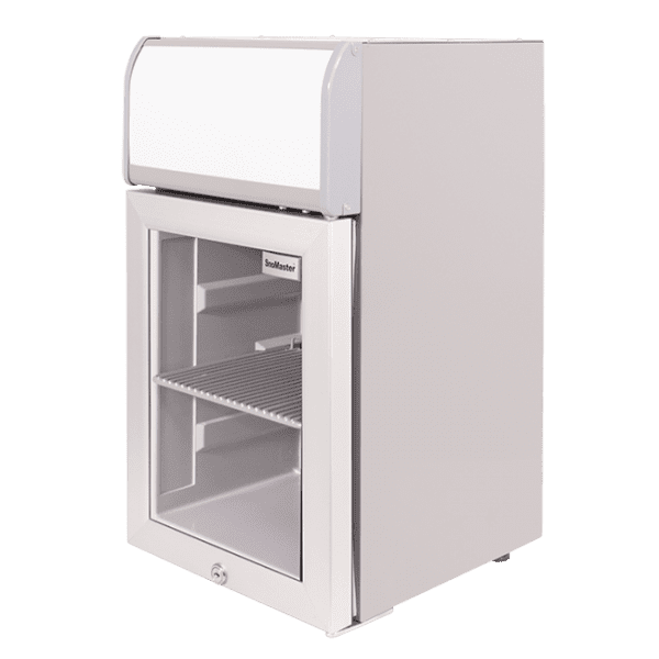 SnoMaster 14.5L Compressor Cooled Tabletop Beverage Cooler with Lightbox (SC-40B) Right View