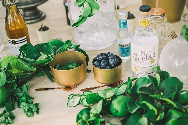 Good quality, fresh ingredients is key to a good gin and tonic.