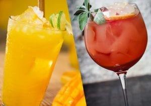 Two of this summer's trendiest cocktails are the Mango Mule and the Paradiso.