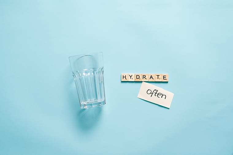 Doctors recommend drinking lots of water to stay healthy.