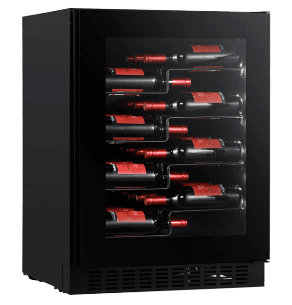 SnoMaster 40 bottle Single Zone Freestanding Wine Cooler (VT-41W) with Closed Glass Door