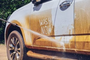 Car Washing with a portable pressure washer