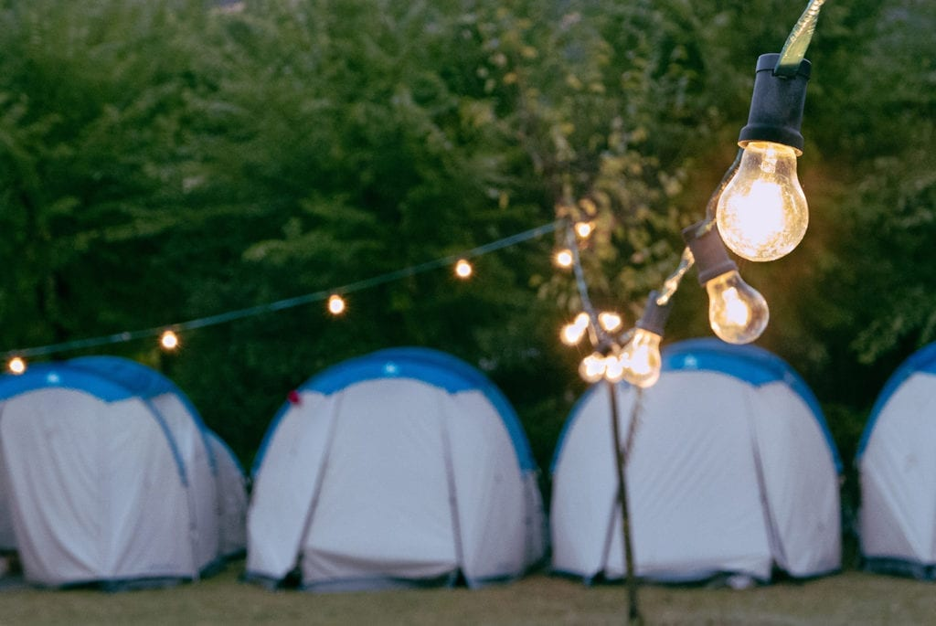 Keeep the lights on while camping with SnoMasters portable solar power kit.