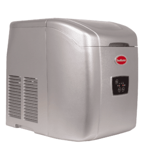 SnoMaster 12kg Tabletop Ice Making Machine (ZB-14G) for Personal Use with 10 Bullet Ice Cube Per Cycle Capacity Side View