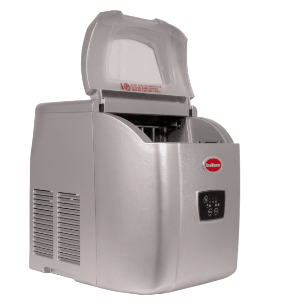 SnoMaster 12kg Small Portable Ice Maker (ZB-14G) with 10 Bullet Ice Cube Per Cycle Capacity Side View