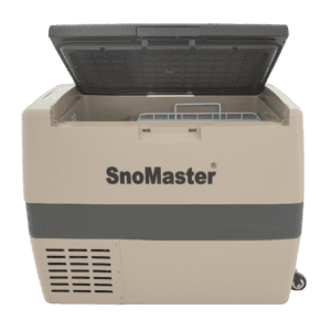 SnoMaster 60L Compressor Cooled AC/DC Portable Camping Fridge / Freezer (SMDZ-LS60D) Open Lid Front