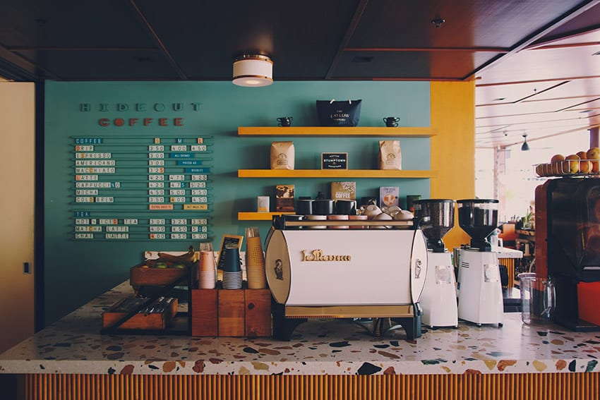 The secret to a successful home coffee bar is to mimic a coffee shop.