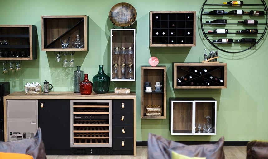 A wine bar is not a wine bar without a reliable wine cooler and ice maker.