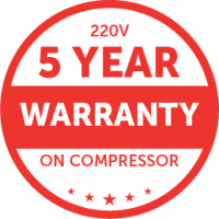 SnoMaster 5-Year Warranty Badge for 220V Fridge Compressors
